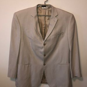 Men JOSEPH & FEISS blazer jacket 48L 100% Silk